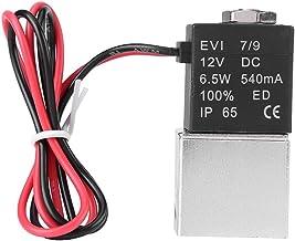 """Solenoïde luchtklep DC 12 V, 1/4""""solenoïdeklep, 2-weg normaal gesloten pneumatische aluminium elektrische solenoïde luchtk..."""