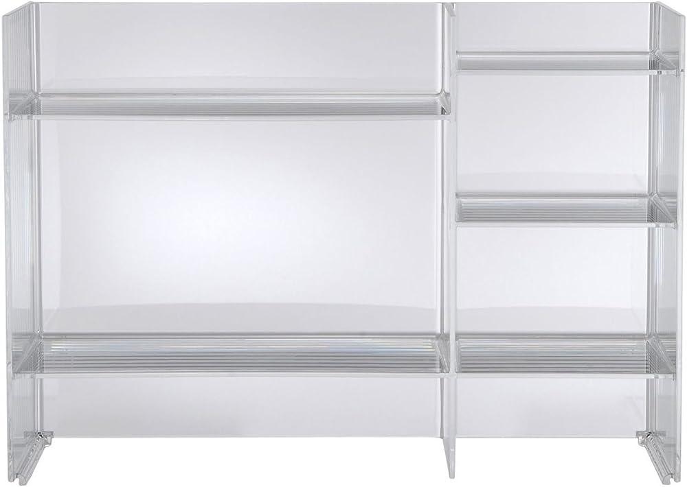 Kartell, sound-rack, mobile contenitore, trasparente 09910B4