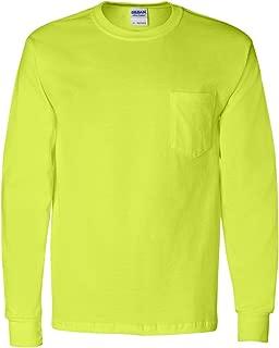 Cotton 6 oz. Long-Sleeve Pocket T-Shirt (G241), White, 5XL