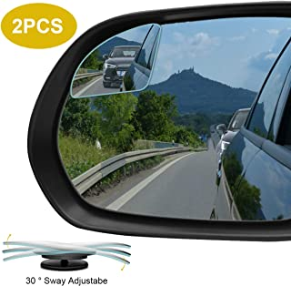 POMFW Blind Spot Mirror, Rearview Convex Side Mirrors for Cars SUV Truck Van Stick on 3M Adhesive, Rear View HD Glass Fram...