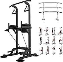 Leasbar Power Tower Dip Bar Station Pull Up Bar Stand for Home Gym Adjustable Strength Training Fitness Equipment 330 LBS ...