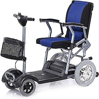 JBP max Silla de Ruedas eléctrica Anciano discapacitado Scooter de Cuatro Ruedas Vehículo eléctrico con Potencia