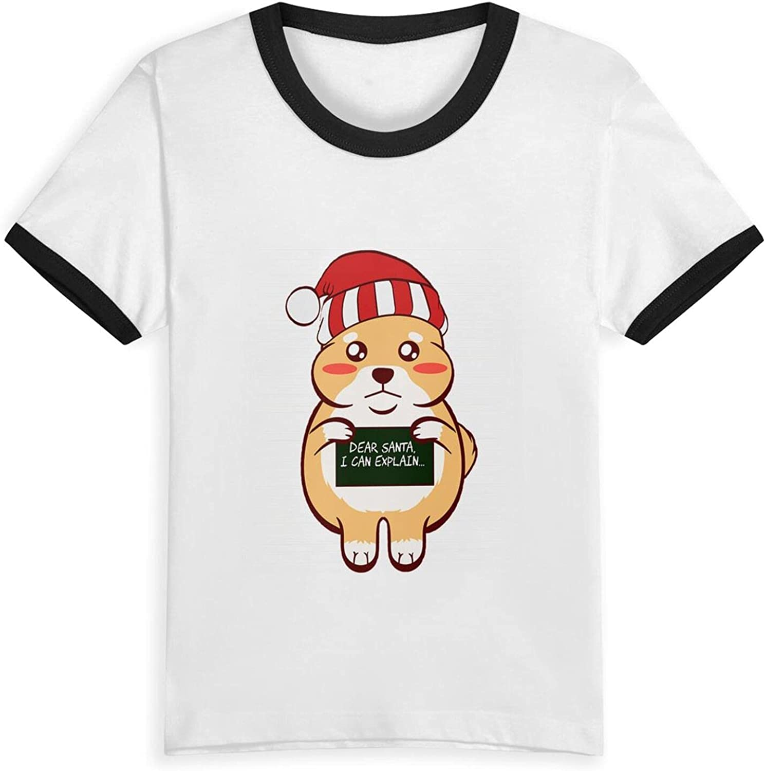 Meow Cat Kitten Dear Santa I Can Explain Naughty List Christmas T-Shirts Novelty for Kids Tees with Cool Designs