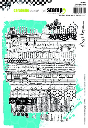 Carabelle Studio A5 Cling Stempel - Mixed Media by Birgit Koopsen, Rubber, White transparent, 15 x 20 x 0.5 cm