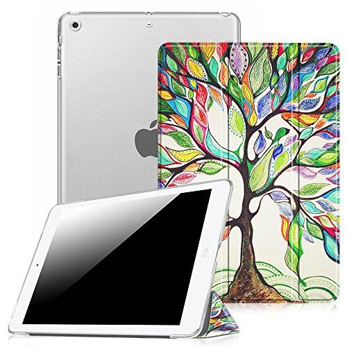 Fintie Hülle für iPad Air 2 (2014 Modell) / iPad Air (2013 Modell) - Ultradünne Superleicht Schutzhülle mit Transparenter Rückseite Abdeckung mit Auto Schlaf/Wach Funktion, Liebesbaum
