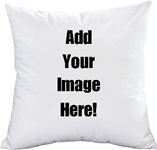Martine Mall Custom Pet Pillow Personalized Pet Photo Pillow Custom Design Photos Text Throw Pillow Love Photo Throw Pillow Wedding Keepsake Pillow with Pillow Inserts Memorial Gift Custom