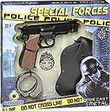 Gonher-Pistola policia Esposas, Color Negro, sin Talla (425/6)