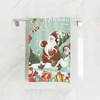 Essuie-Mains, Serviettes de Noël absorbantes en Bonhomme de Neige Noël de 15 x 30 Pouces pour la Maison et à l'extérieur