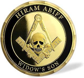 Grand Master Hiram Abiff Masonic Coin Master Mason Freemason Gift