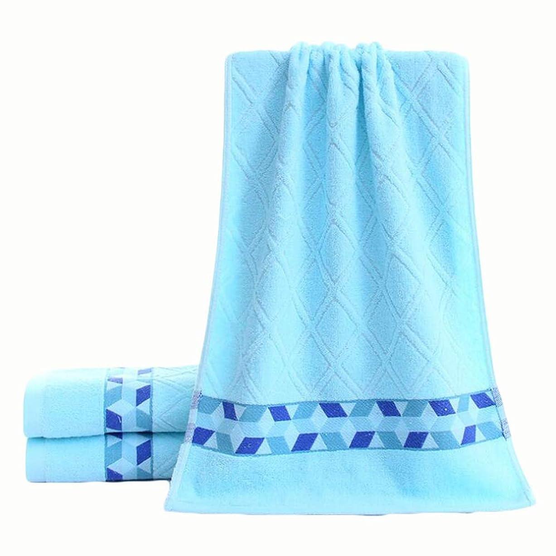 広々コンバーチブル明示的にCXUNKK 2PCS / LOT家庭用綿厚ファッションソフトタオル (Color : Blue)