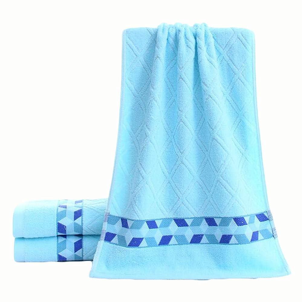 隠開始類人猿CXUNKK 2PCS / LOT家庭用綿厚ファッションソフトタオル (Color : Blue)