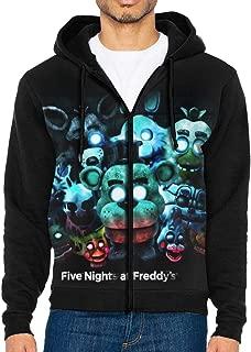 FNAF_World Men's Jacket Printed Hoodie Sweatshirt Full Zip Casual Hat Pocket Pullover Sweater