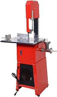 Tangkula Electric 550W Proffessional Stand Up Butcher Meat Band Saw & Grinder Processor Sausage (Red)