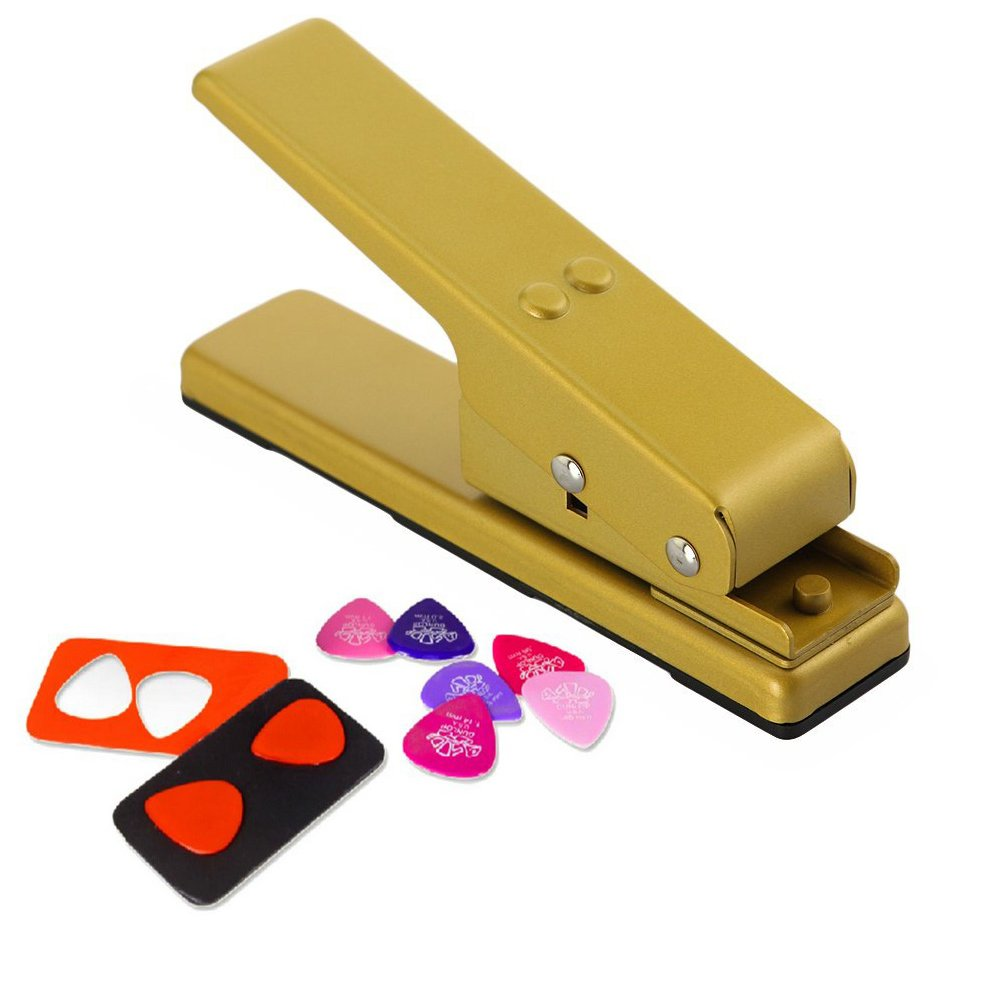Diy Professional Guitar Guitar Picks Maker Wifi Ir Cut Support For Abs Pvc Celluloid Or Derlin Etc Old Credit Cards Gift Cards Hotel Schluesselkarten And More Amazon Co Uk Musical Instruments