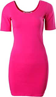 Women's Short Sleeve Body con Mini Dress