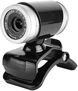Nikou Web Camera, Clip-on 360 Degree USB 12 Megapixel HD Webcam Web Camera with Microphone(Black+Silver)