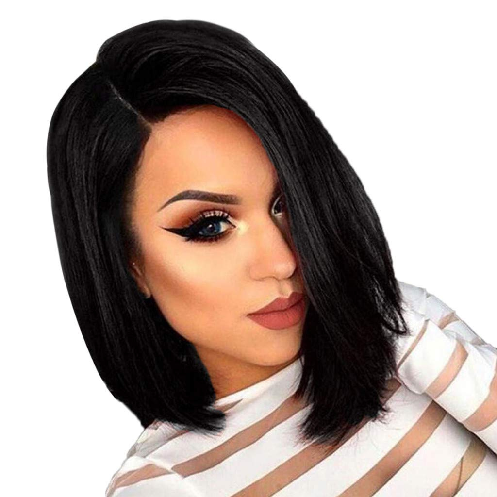 New product! New type High quality FRCOLT Women Natural Black Long Heat Synthetic Frie Straight Wig