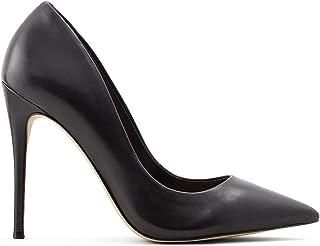 ALDO Women's Stessy Dress Pump, Black Smooth, 9