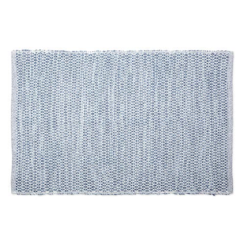DII Contemporary Reversible Machine Washable Recycled Yarn Area Rug for Bedroom, Living Room, and Kitchen, 2x3, Diamond French Blue