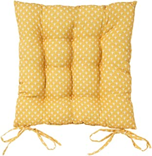 Cojín Silla Acolchado Mostaza exótico de algodón y poliéster de 40x40 cm - LOLAhome