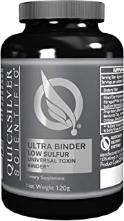 Quicksilver Scientific Ultra Binder Low Sulfur - with Activated Bentonite Clay + Charcoal (120g)