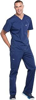 Cherokee Workwear Professionals Men's Scrub Set - WW675 V-Neck Top & WW190 Tapered Leg Drawstring Cargo Pant