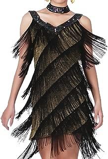 kayamiya Women's Flapper Dress 1920s Gatsby Tassel Sway Dance Cocktail Dress