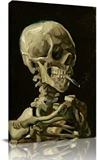Canvas Print Wall Art - Skeleton by Vincent Van Gogh - Wall Decor Modern Artwork Paintings Pictures for Living Room Stretched and Framed Ready to Hang - 12