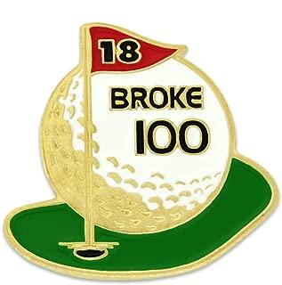 PinMart Golf Ball Broke 100 Golfing Enamel Lapel Pin