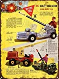 Fabri.YWL 1957 Nylint Missile Launcher Toy Loader Man Cave Metal Sign Repro 8'X 12'