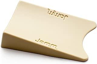 Top Rated Jamm Doorstop. Outperforms Other Door Stops and Decorative Door Wedges. Patented Design Holds Doors in Both Directions. Non Rubber Hardware Door Stopper (Size 1) (1 Pack, Honey Beige)