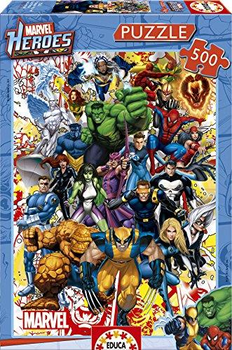 Educa Borras - Serie Marvel, Puzzle 500 piezas Héroes Marve