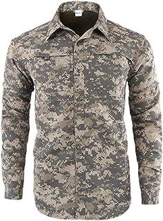 Gergeos Mens Long-Sleeve Shirts Retro Printed Dress Shirt Slim Fit Button Down Shirt Pullover S-XXXL