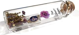 FLOR botella mensaje de vidrio cerezo Japón decoración estrella resina perla púrpura rosa corazón oro día de la madre rega...
