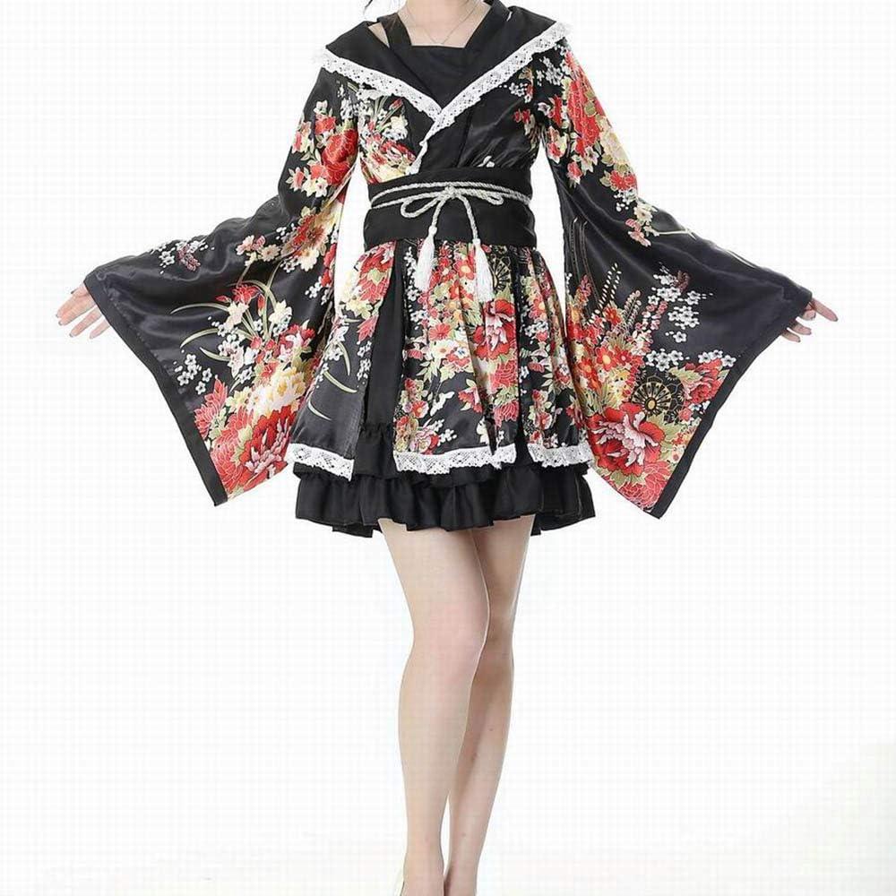 ZNL Year-end annual account Girls Japanese Kimono Regular dealer Costume Floral Lolita Wa Print