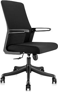 RayGoo オフィスチェア デスクチェア 130度 ロッキング メッシュ ワークチェア コンパクト 通気性 事務椅子 腰サポート パソコンチェア 360度回転 日本語説明書が付き (ブラック-B701)