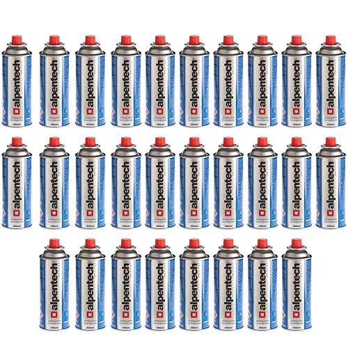 West&East - Cartucho de gas butano, 227 g, con válvula azul, 28 cartuchos