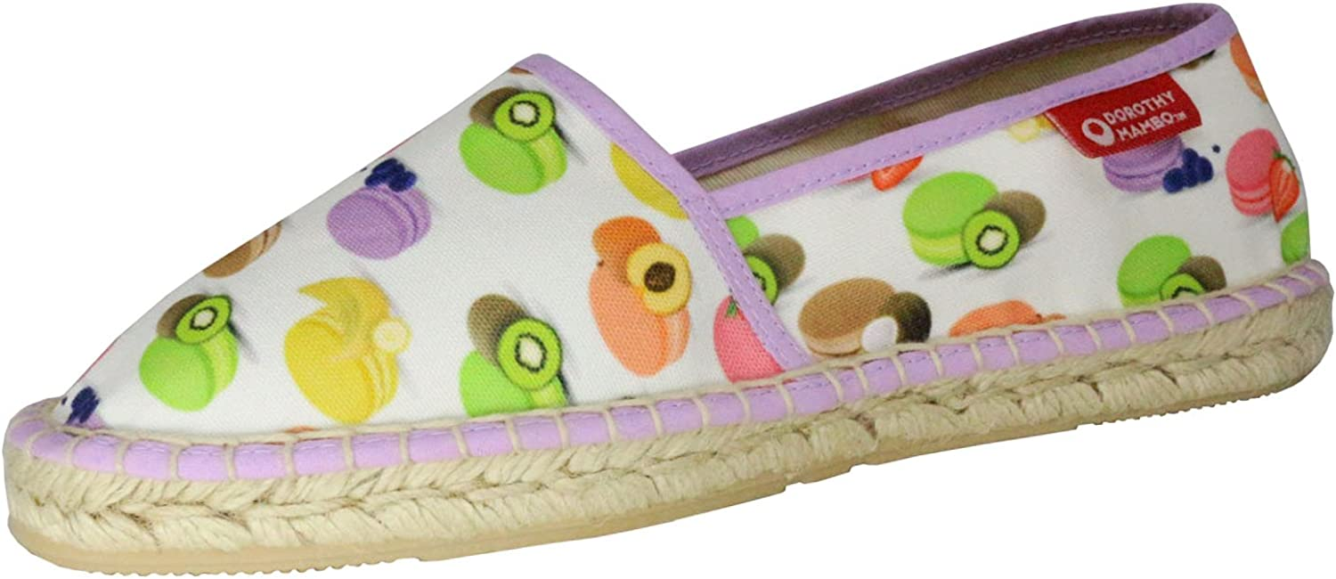 Dgoldthy Mambo x Fusion Kawaii Cute Espadrille Slip-on Loafer Fruit Macaroon Made in Spain