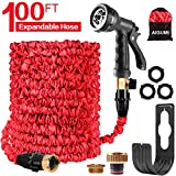 AIGUMI 100ft/30m Expandable Garden Hose Pipe, Flexible Garden Hose Magic Expanding Hose Pipes