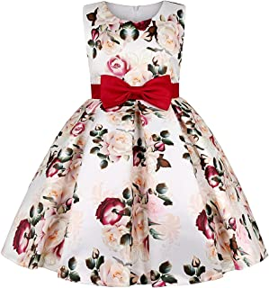 COMISARA 2-9 Years Flower Girls Dresses Pageant Party Birthday Formal Ball Gown Dress