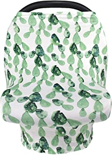 Multi-Use Breastfeeding Nursing Cover Baby Carseat Canopy Infant Stroller Covers (Cactus)