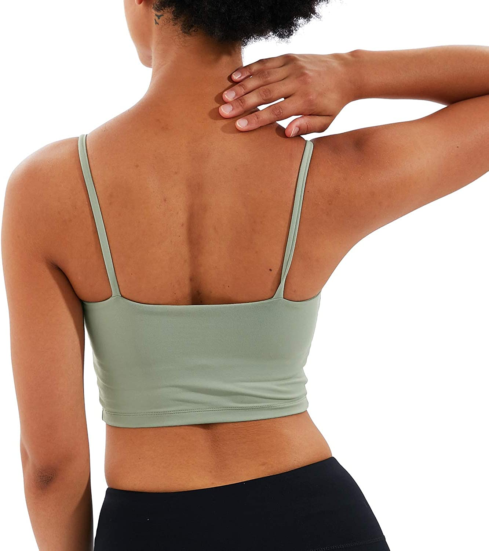 LVNES Tank Top Padded Sports Bra Yoga Workout Crop Top for Women Sports Bra