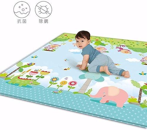 HSDMWJD HSDM indergarten Baby Krabbelmatte Wasserdichte und schmutzige Kindermatten Wohnzimmer Home Spiel Pad Baby Tier Klettern Matte