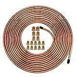 25 Ft. of 3/16 Brake Line Tubing Kit - Muhize Flexible Copper Tube Roll 25 ft 3/16
