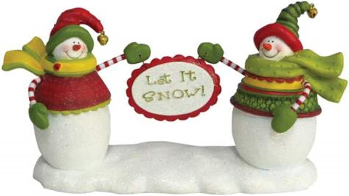 WL SS-WL-19206 Smiling Snowmen Figurine Hol it Snow Max 50% OFF Max 55% OFF Holding Let
