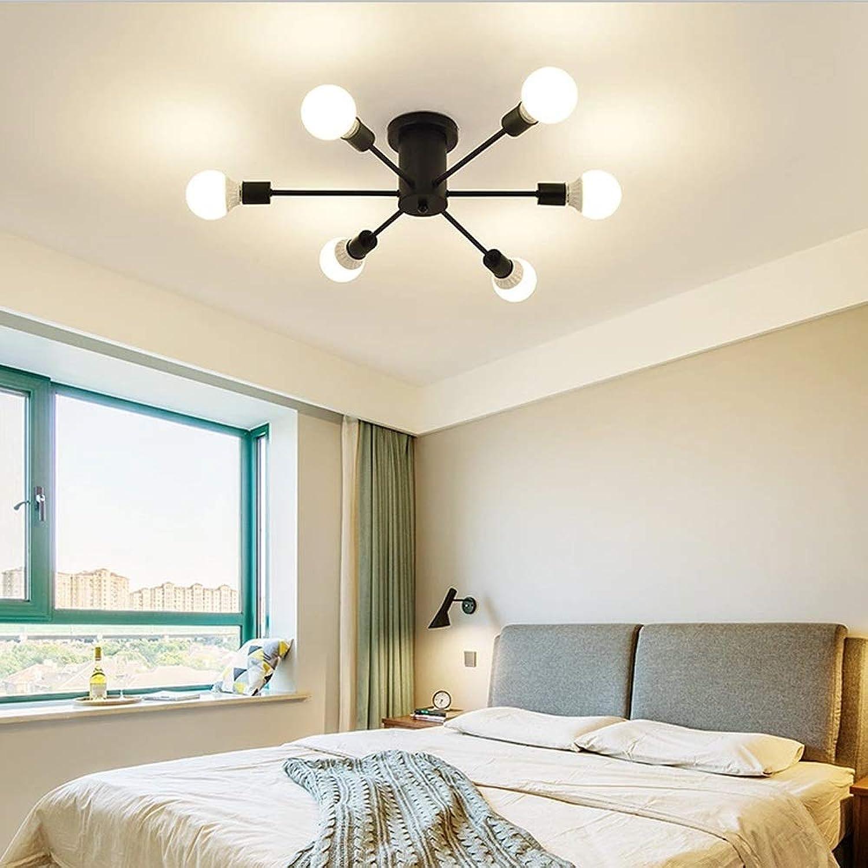 AXWT Plafonnier moderne à 6 8 10 ampoules LED, chrome poli, ampoules G9 avec abat-jour en verre, plafonnier [Classe énergétique A +] (Couleur   noir-6 heads)