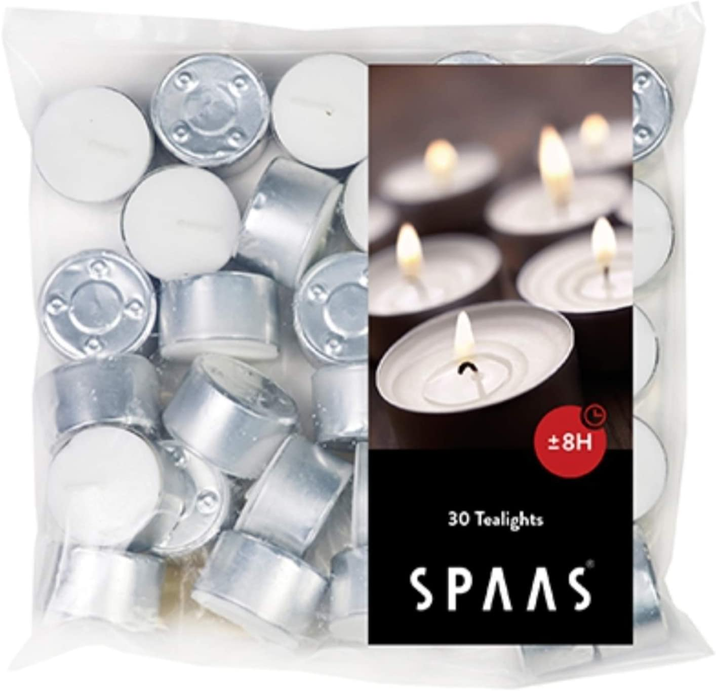 cheap All items in the store Spaas Tealights Bag x30 8 Hours European Time Burn White Made