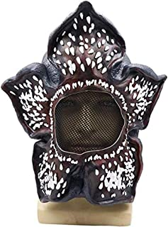 ENFLNI Stranger Season 3 Cosplay Things Demogorgon Mask Latex Dress Up Costume Party Props Black for Halloween Party