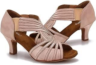 Ballroom Dance Shoes Women Latin Salsa Practice Dancer Shoes 2.5'' Heels YT02