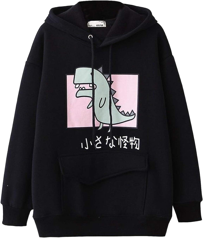 FABIURT Hoodies for Women Teen Girls Cute Anime Graphic Printed Long Sleeve Sweatshirt Pullover Casual Loose Hoodie Tops